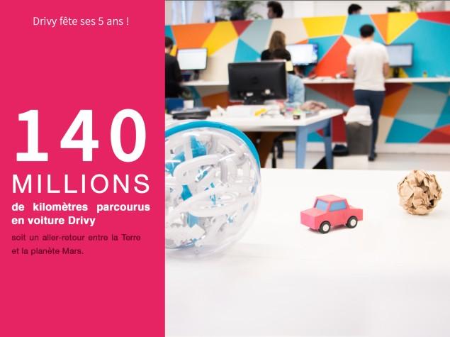 140 millions kms parcourus location voiture