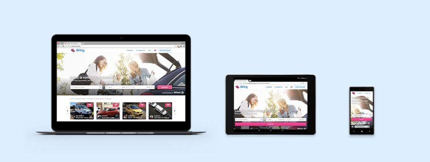 Site Drivy responsive sur 3 écrans